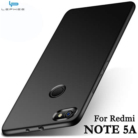lephee xiaomi redmi note 5a redmi note 5a pro cover matte tpu silicone soft back phone