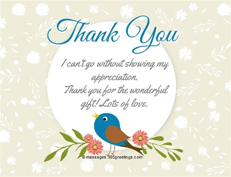 Thank You For The Gift Card Quotes thank you notes for gift 365greetings