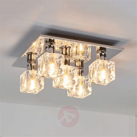 Cube Ceiling Light Interesting Chrome Flush Cube Ceiling Light Lights Co Uk
