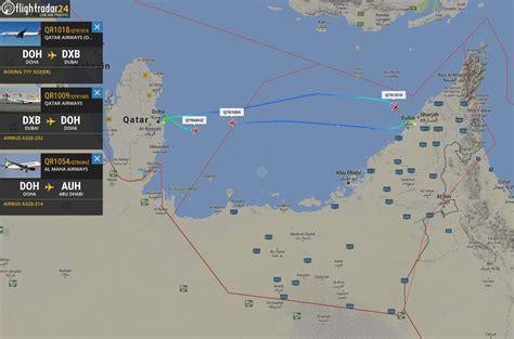 emirates qatar flight ban for qatar flights in uae saudi arabia bahrain