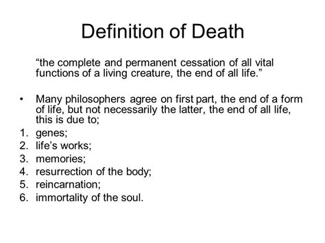 body biography definition religious views on life after death philosophy of religion
