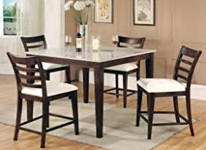 Granite Kitchen Table Set Bar Height Dining Table Collection Granite Top 5 Set Home Kitchen