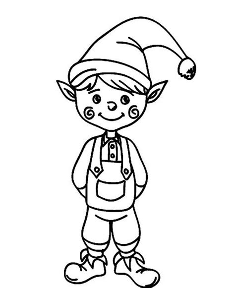 cute elf coloring pages a cute christmas elf with funny cheek coloring pages