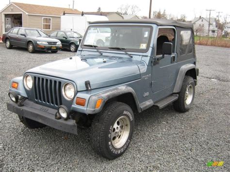 gunmetal grey jeep 1997 gunmetal pearl jeep wrangler sport 4x4 27851273