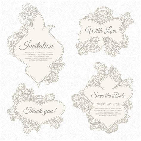 Wedding Font Rar by Floral Wedding Invitation Labels Vector Rar Vector
