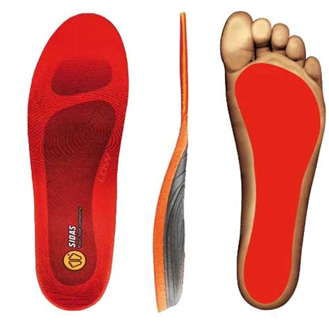 Sidas 3feet Activ Low Arch Insoles sidas 3 winter low arch orthotic insole anything technical