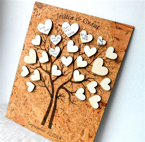 rustic wedding guest books rustic wedding guest book alternative by corkcountrycottage