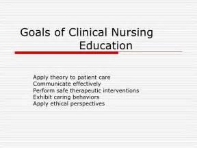 goals of clinical nursing education