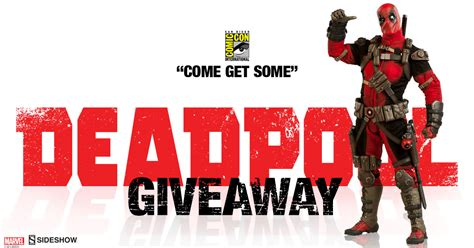 figure giveaway deadpool figure giveaway sideshow collectibles
