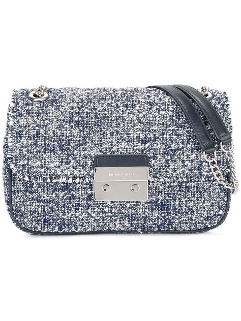 Tweed Crossbody Bag michael michael kors tweed crossbody bag in blue lyst