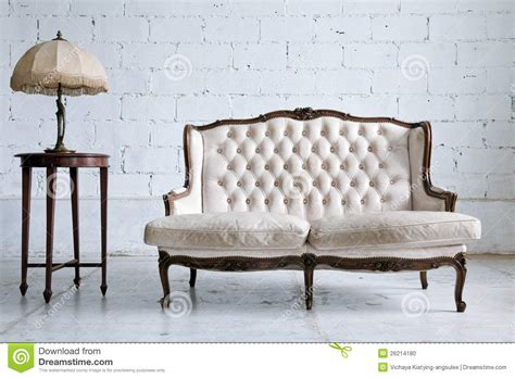 vintage inspired couch vintage sofa room stock photo image 26214180