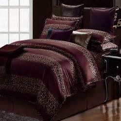 leopard print duvet cover set home apparel
