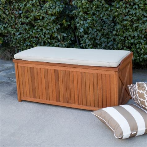 outdoor patio cushion storage bench belham living brighton 48 in outdoor storage deck box