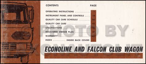 free auto repair manuals 1966 ford falcon regenerative braking 1967 ford bronco econoline repair shop manual original van club wagon rv