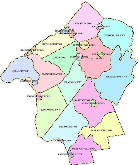 zip code map union county nj hunterdon county