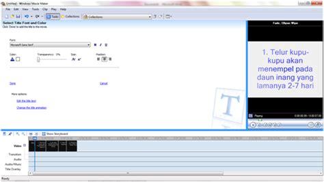 membuat tulisan di video movie maker tutorial cara mengoperasikan movie maker 2 6 catatan norma