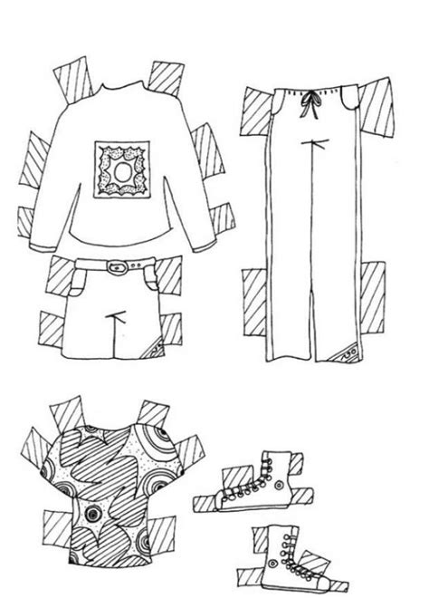 PAPER DOLL CLOTHES - Clothes for teen model