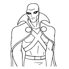martian manhunter coloring pages coloring pages