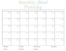monthly dinner calendar template monthly meal calendar template calendar template 2016