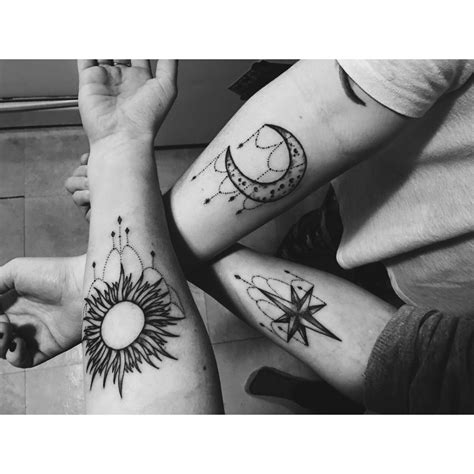 sun and moon best friend tattoos sun moon friendship tattoos ideas