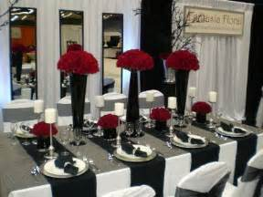 Black And Red Table Settings - white and red wedding decorations living room interior designs