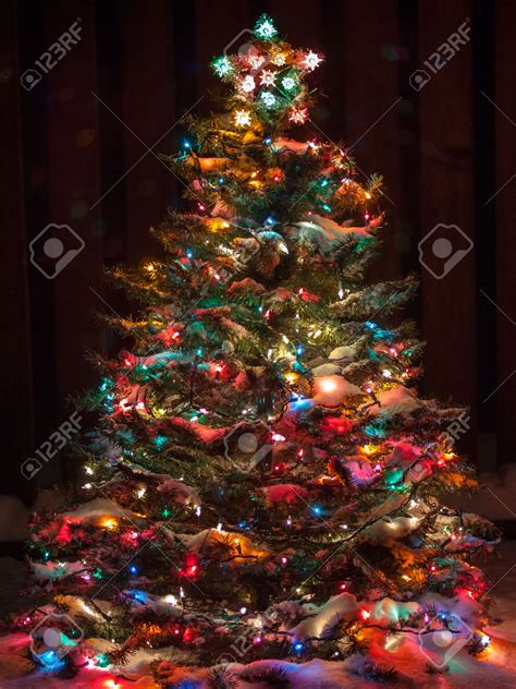 multi color christmas tree decorations tree with colored lights sanjonmotel