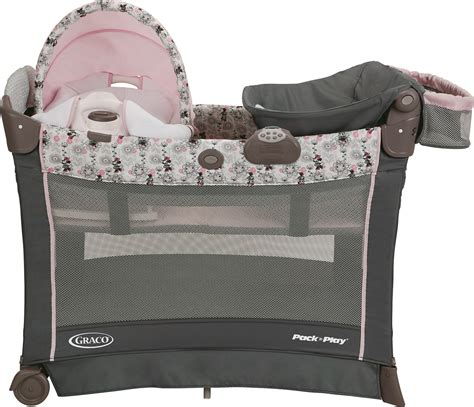 Bassinet N Seat Rocker graco pack n play playard with cuddle cove premiere rocking seat minnie s garden cot buy