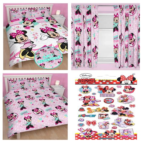 minnie mouse bedding and curtains minnie mouse bedroom range single double doona cover