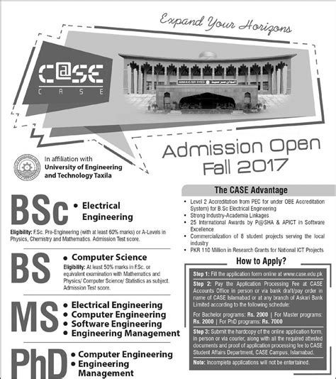 Mba Admission In Islamabad 2017 by Islamabad Admission 2017 Form Last Date