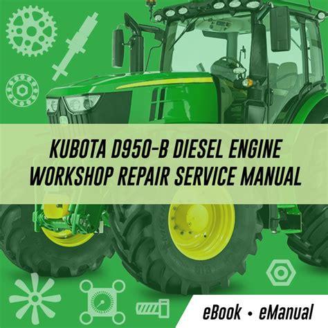 Engines Kubota Service Repair Workshop Manuals
