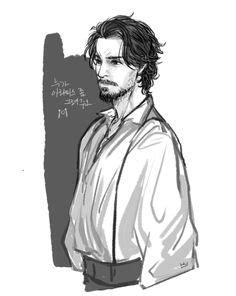 The Musketeers Fan art - D'Artagnan, Athos, Pothos