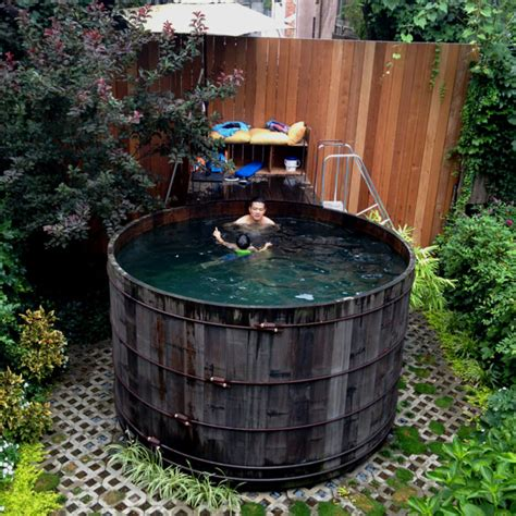 backyard water tower repurposed nyc water tower in above ground pool 1001 gardens