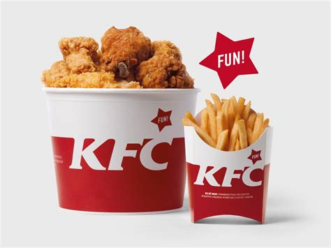 product layout of kfc kfc russia rebranding global legendary and modern