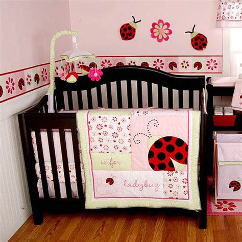 Ladybug Crib Bedding Set Li L By Kidsline Ladybug Bedding Set 3pc Value Bundle Walmart