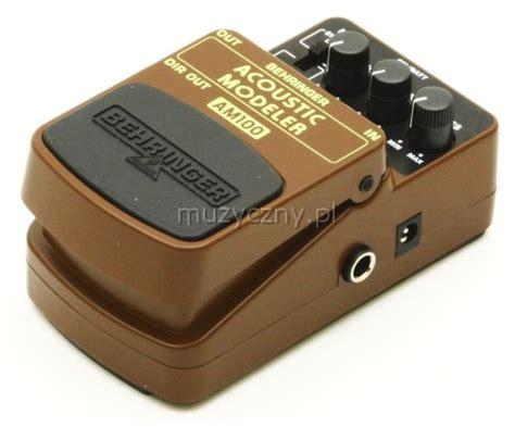 Behringer Am100 Uf 100 behringer am100 acoustic simulator efekt gitarowy