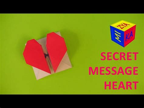 Secret Message Origami - valentines diy ideas an origami secret message