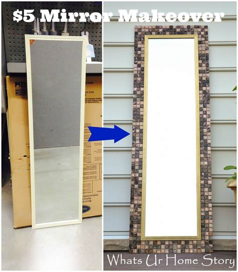 diy 5 ways to decorate boring picture frames youtube diy tile mirror whats ur home story