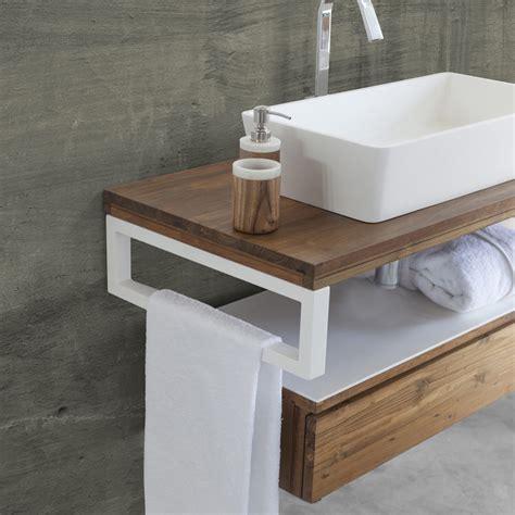 mobiletto bagno sospeso mobile bagno sospeso moderno teak white cip 236 in offerta
