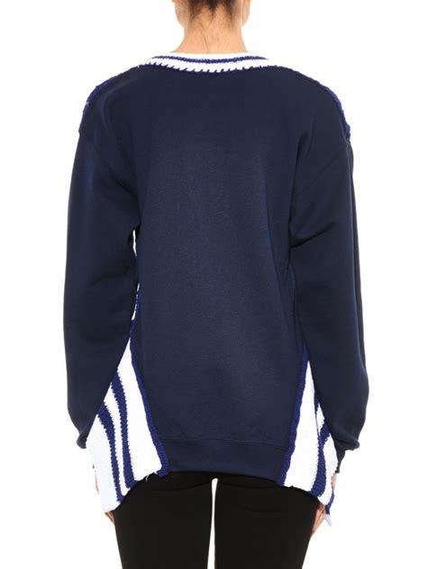 Sweater Grandsfam lyst michaela buerger miss grand slam knit sweater in blue