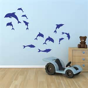 Dolphin Wall Stickers Dolphin Wall Stickers Dolphin Pod Family Wall Decals