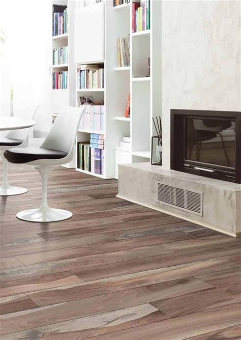 trend wood look tile modern living room by arley