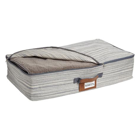 grey under bed storage bag the container store umbra grey under bed artisan crunch storage bag the