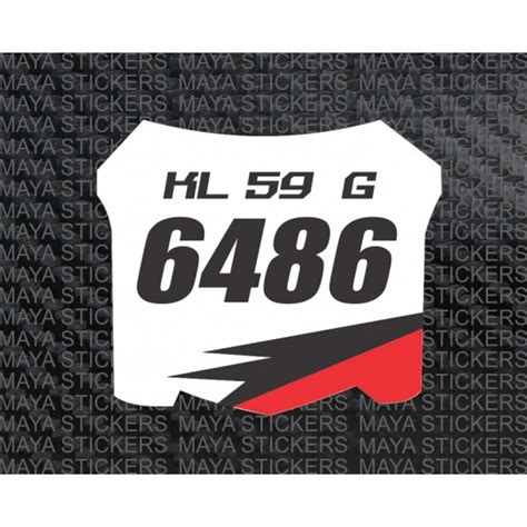 motocross bike numbers mx fx racing sports style number plate stickers for bikes