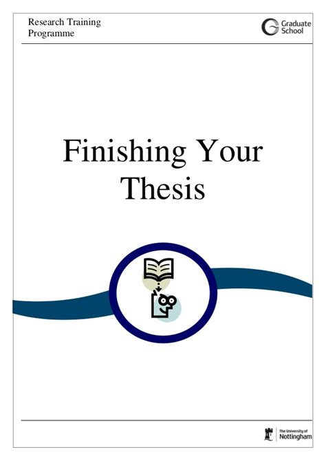 finish thesis finishing your thesis 2