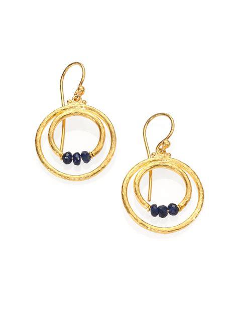 gurhan hoopla blue sapphire sterling silver 24k yellow