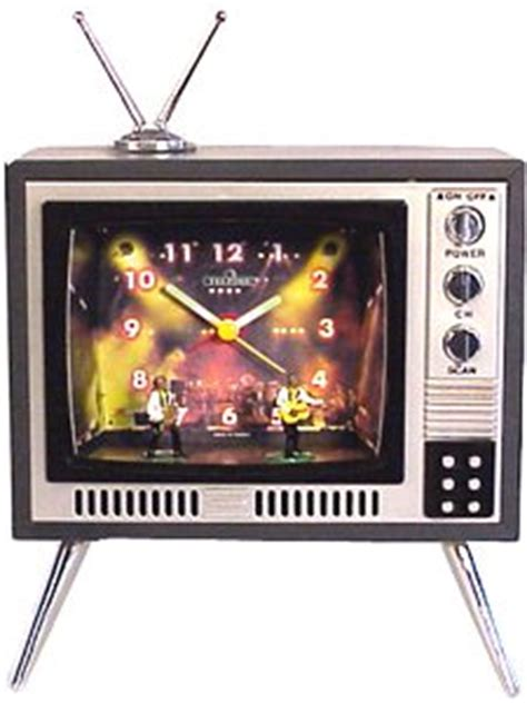 jazz vintage tv novelty alarm clock home kitchen