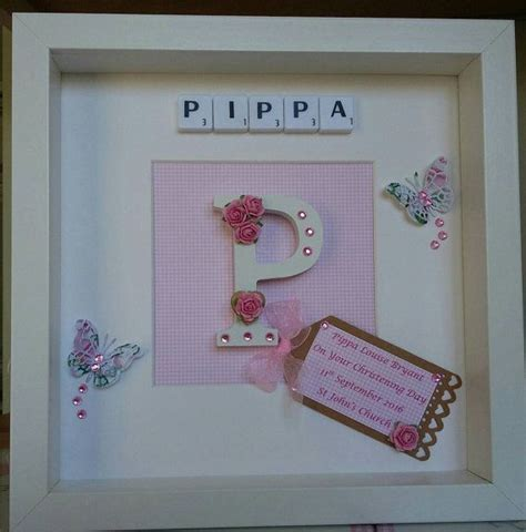 baby scrabble personalised scrabble picture baby christening gift
