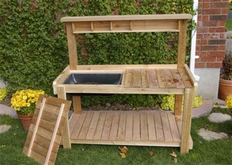 potting bench design plans for potting bench woodworking projects plans