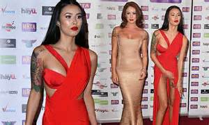 Serious Wardrobe by Ellis Flashes A Lot More Than She Bargained At Reality Awards Daily Mail