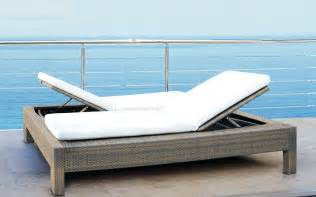 Above is a white outdoor double lounge chair note the original